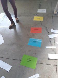 Übung mit Bodenankern in Brasilien auf dem GFK Seminar