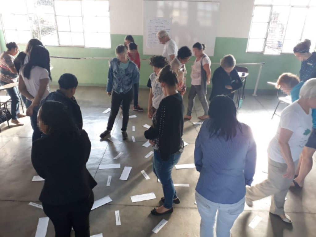 Gruppenübung in Brasilien auf dem GFK Seminar
